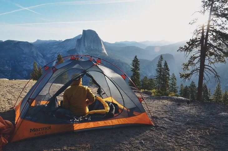 glacier point road camping